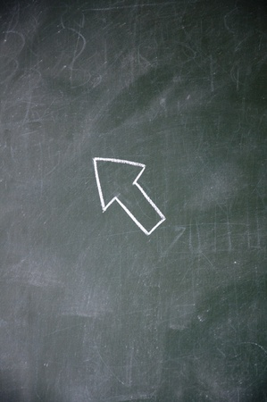Computer Cursor drawn with chalk on blackboard photo