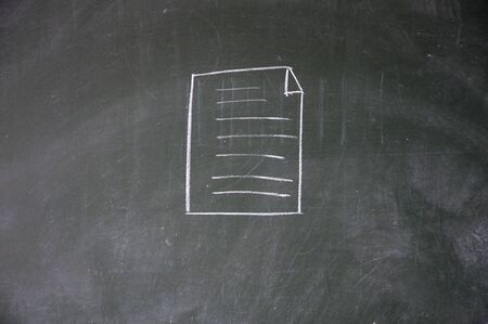 file sign drawn with chalk on blackboard photo