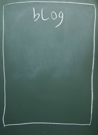 blog title written with chalk on blackboard Stock Photo - 11998651