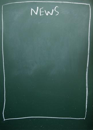 news title written with chalk on blackboard Stock Photo - 11998686