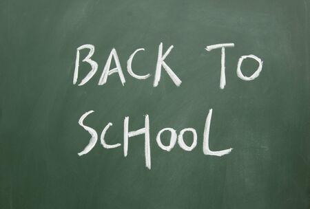 blankness: back to school title written with chalk on blackboard