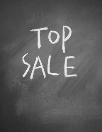 top sale title written chalk on blackboard photo