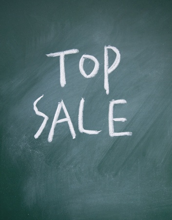 top sale title written chalk on blackboard photo