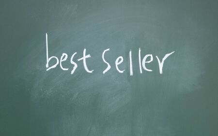 best seller title written with chalk on blackboard photo