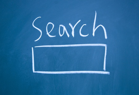 search interface drawn with chalk on blackboard Stock Photo - 12292746
