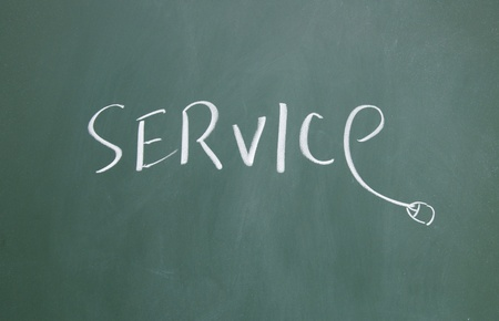 service title written with chalk on blackboard Stock Photo - 12648303