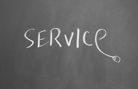service drawn with chalk on blackboard Stock Photo - 12648298