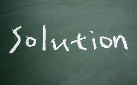 resolutions title written with chalk on blackboard photo