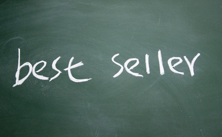 best seller title written with chalk on blackboard Stock Photo - 12649280