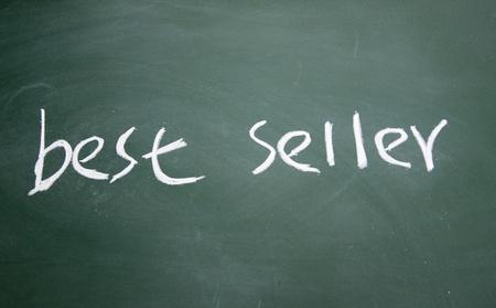 best seller title written with chalk on blackboard Stock Photo - 12649280