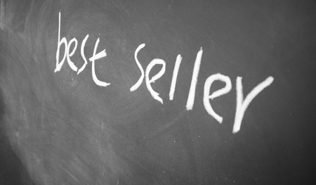 best seller title written with chalk on blackboard Stock Photo - 12649314