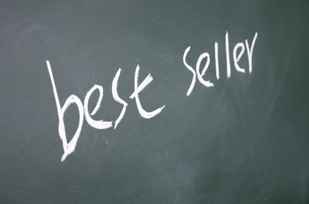best seller title written with chalk on blackboard Stock Photo - 12648334
