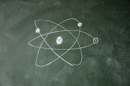 science sign drawn with chalk on blackboard photo