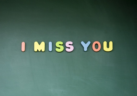 i miss you sign photo