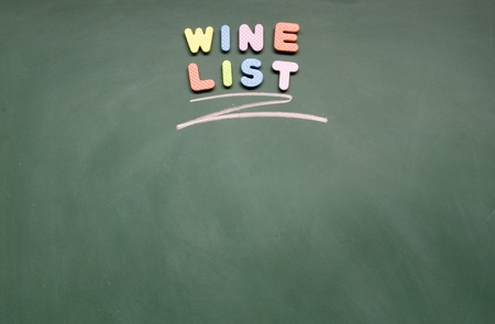 wine list photo