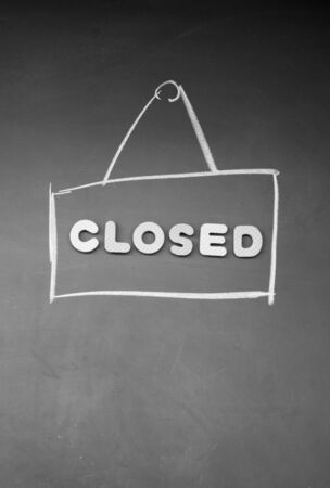 detriment: closed sign Stock Photo