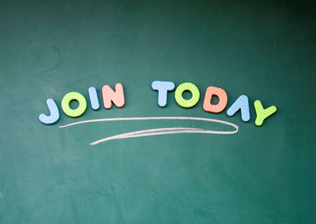 join today title  Stock Photo