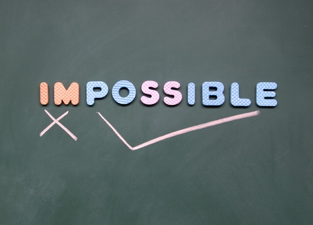 impossible and possible sign Stock Photo - 12828983