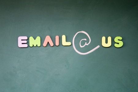 lacunae: email sign Stock Photo