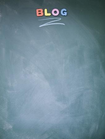lacunae: blog title written with chalk on blackboard Stock Photo