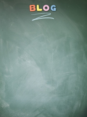 lacunae: blog title written with chalk on blackboard Stock Photo