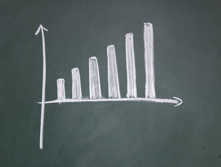 chart drawn with chalk on blackboard Stock Photo - 12953473