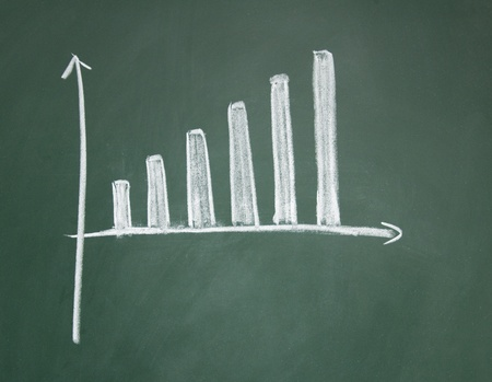 chart drawn with chalk on blackboard Stock Photo - 12953512
