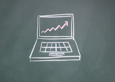 Notebook computers and chart Stock Photo - 12953600