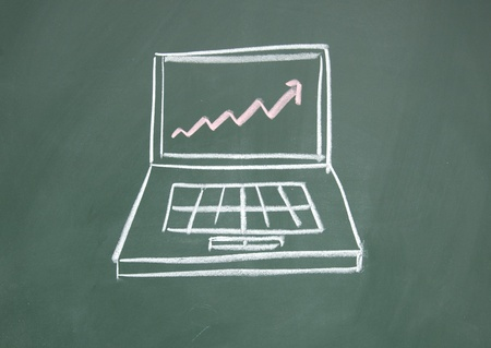 detriment: Notebook computers and chart Stock Photo