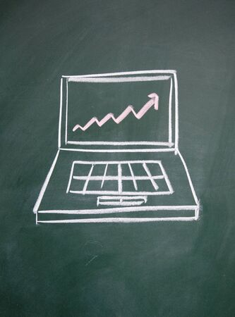 Notebook computers and chart photo
