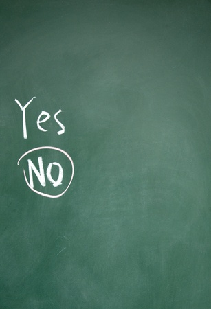 yes and no choice photo