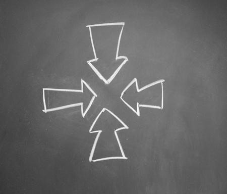 girth: arrows drawn with chalk on blackboard