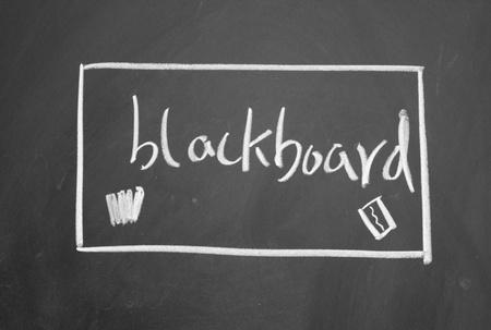 blankness: blackboard
