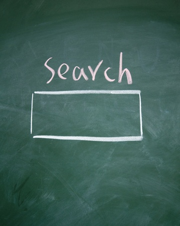 Search interface drawn with chalk on blackboard Stock Photo - 13011505