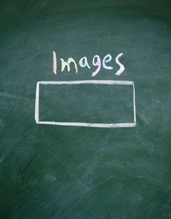 images search interface drawn with chalk on blackboard Stock Photo - 13011552