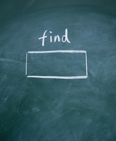 Search interface drawn with chalk on blackboard Stock Photo - 13011425