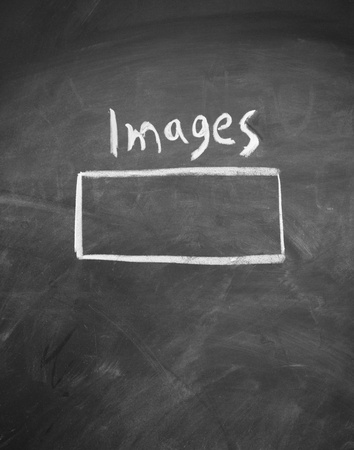 images search interface drawn with chalk on blackboard Stock Photo - 13029584
