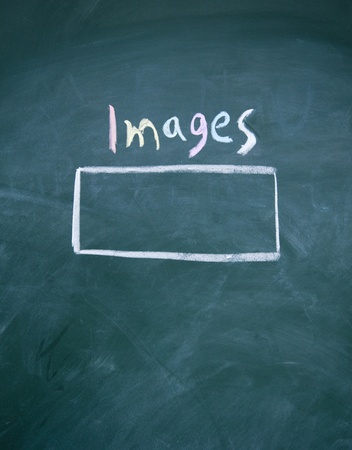 images search interface drawn with chalk on blackboard photo