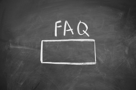 FAQ search title Stock Photo - 13011640