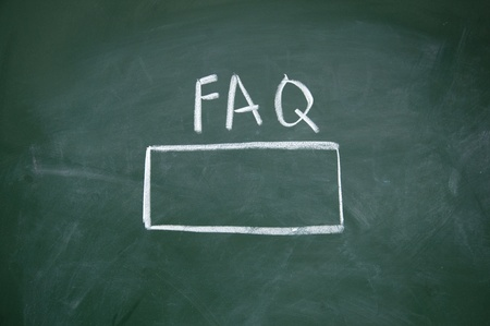 FAQ search title Stock Photo - 13011591