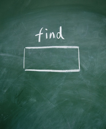 Search interface drawn with chalk on blackboard Stock Photo - 13011482