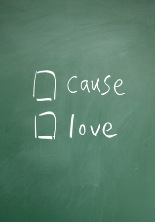 cause or love choice Stock Photo - 13011315
