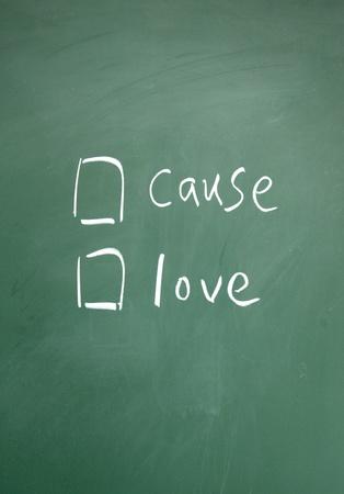 cause or love choice photo