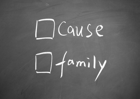 cause: cause or family choice Stock Photo