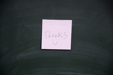 lacunae: thanks title Stock Photo