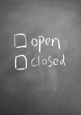 open or closed  choice symbol photo