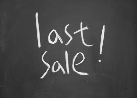 lacunae: last sale title written with chalk on blackboard