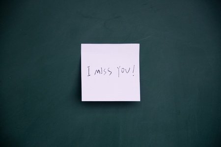 i miss you note photo