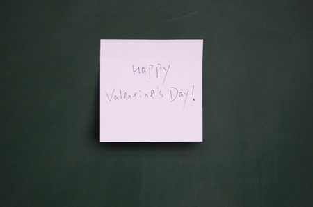 happy valentine note  Stock Photo - 13010817
