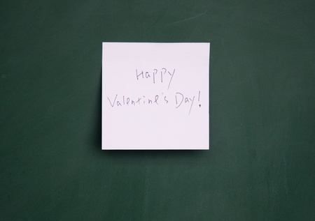 happy valentine note Stock Photo - 13010851